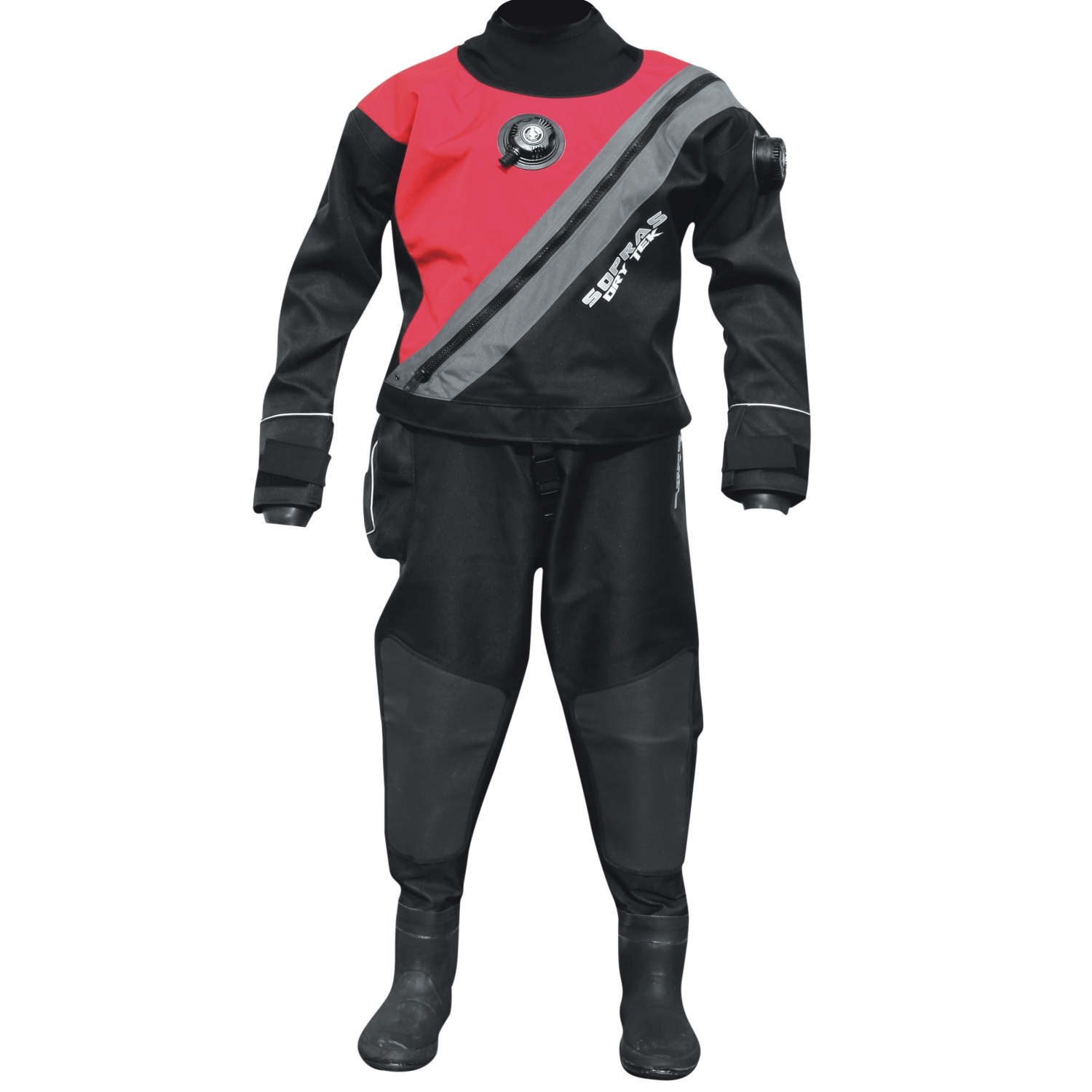 Dry suits with front zipper